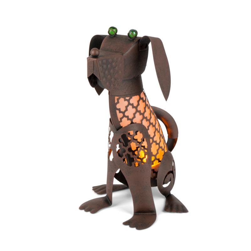 "Gerson Company 15.5"" Solar Lighted Garden Meadow Dog"