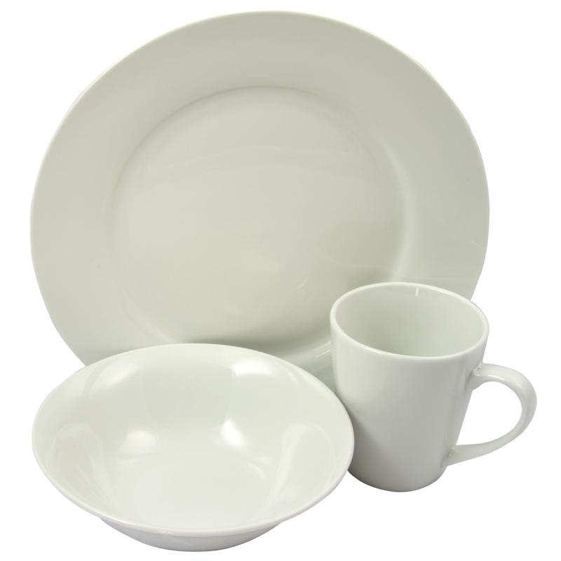 Gibson Home Elite Circle 12-piece Ceramic Dinnerware Set in White