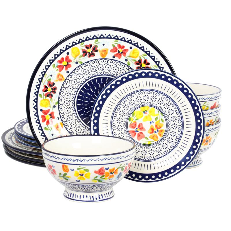 Gibson Home Grandin 12-piece Dinnerware Set