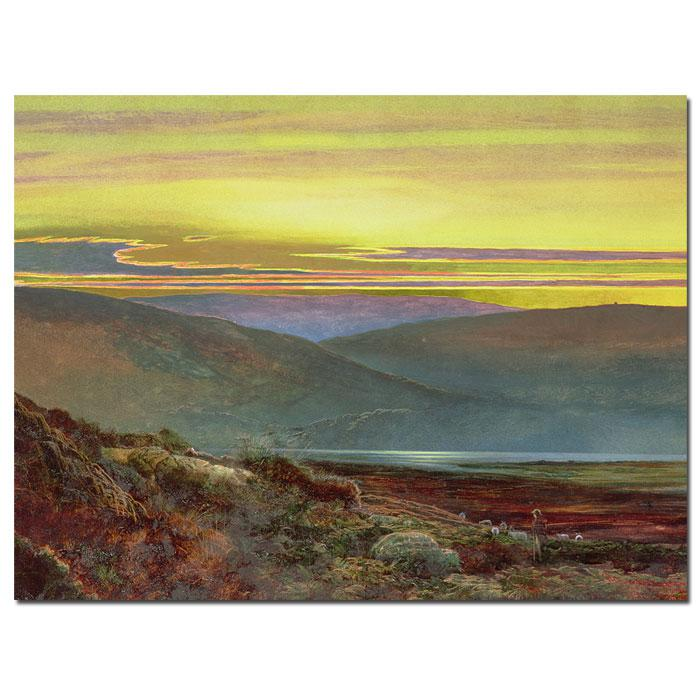 "Giclee Print - A Lake Landscape at Sunset 19"" x 14"""