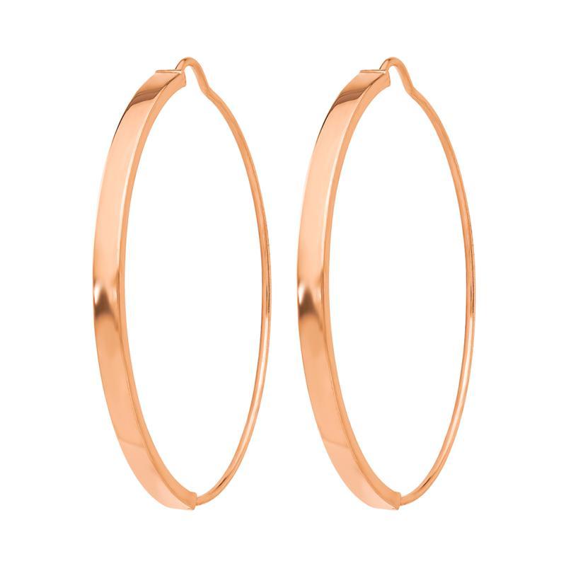 Golden Treasures 14K Gold Endless Wire Hoop Earrings