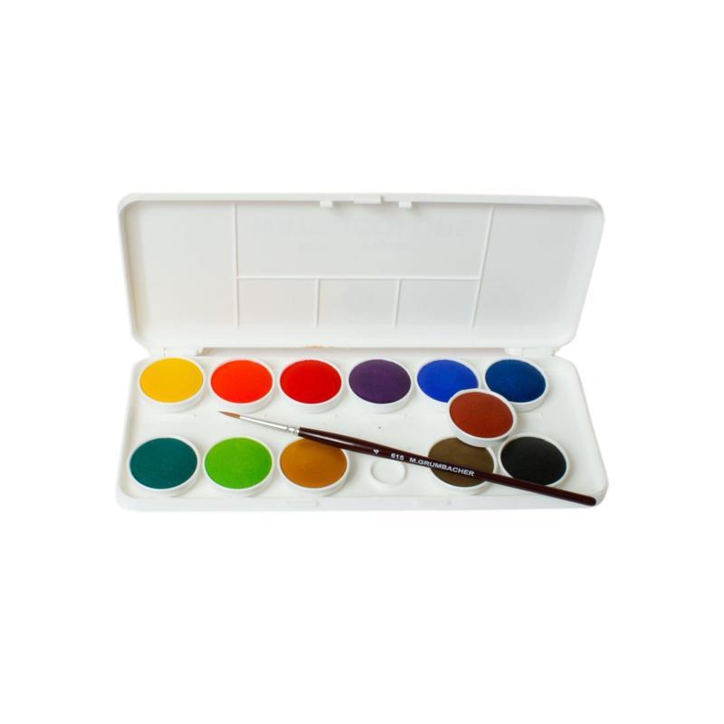 GRUMBACHER Set of 12 Deluxe Transparent Watercolors