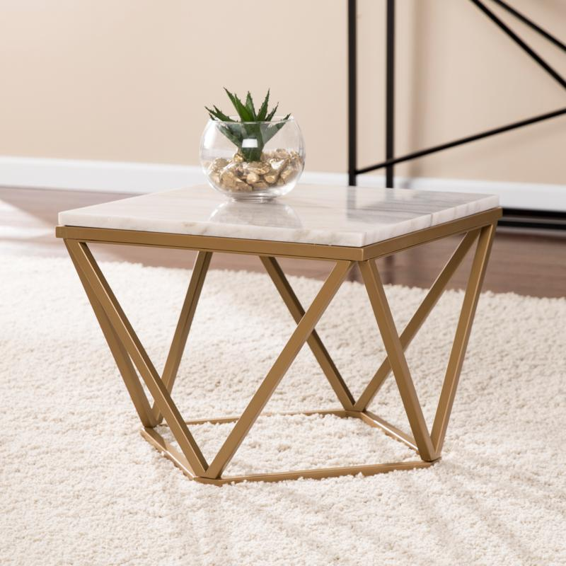 Hansel Marble Accent Table
