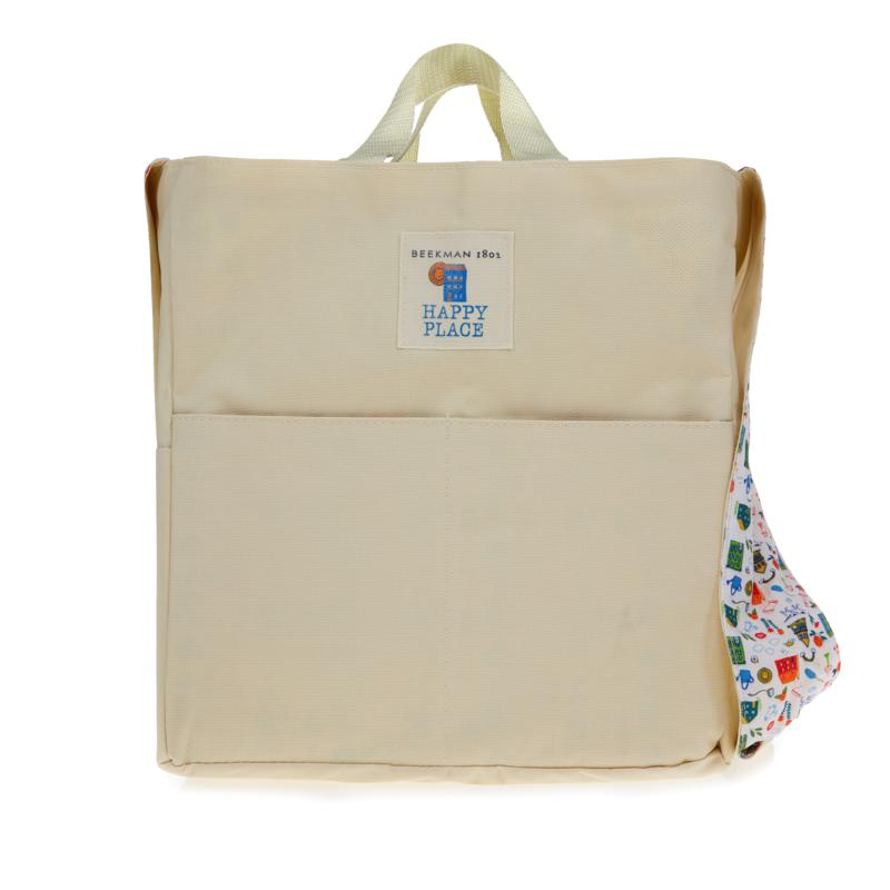 Happy Place Large 8-Pocket Crossbody-Style Cleaning Tote
