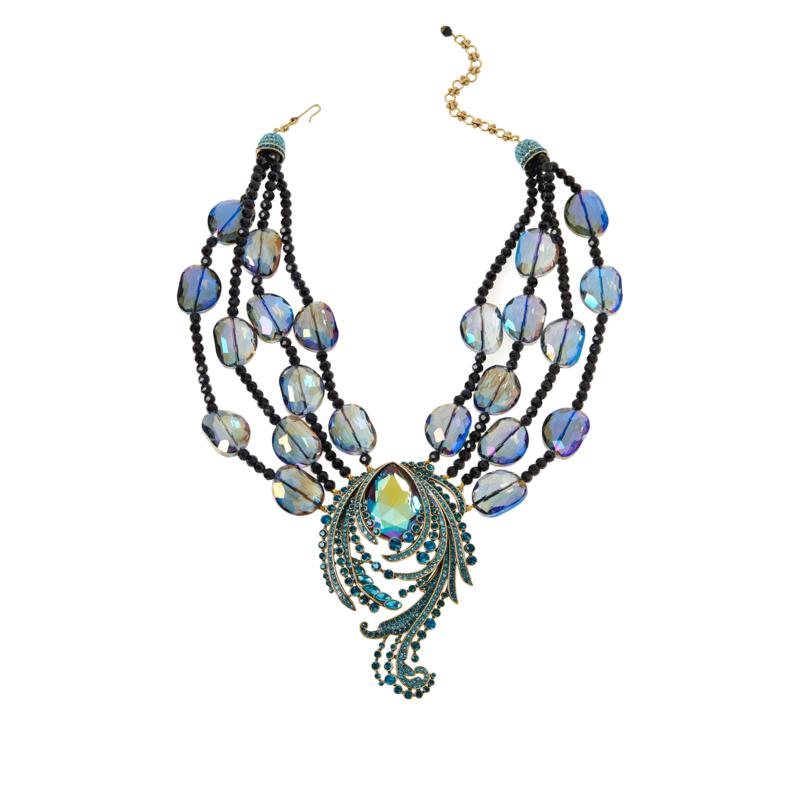 """Heidi Daus """"Make Some Waves"""" 17"""" Beaded Station Necklace"""