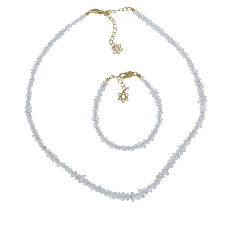 "Herkimer Mines 51.50ctw ""Diamond"" Quartz Necklace and Bracelet Set"