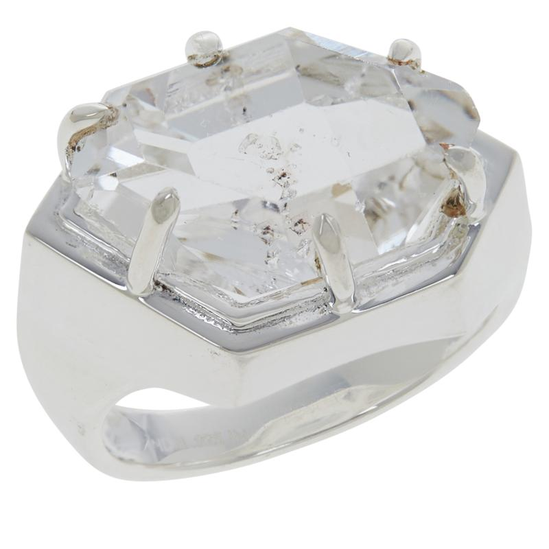 "Herkimer Mines Boutique Collection ""Diamond"" Quartz Natural Hug Ring"
