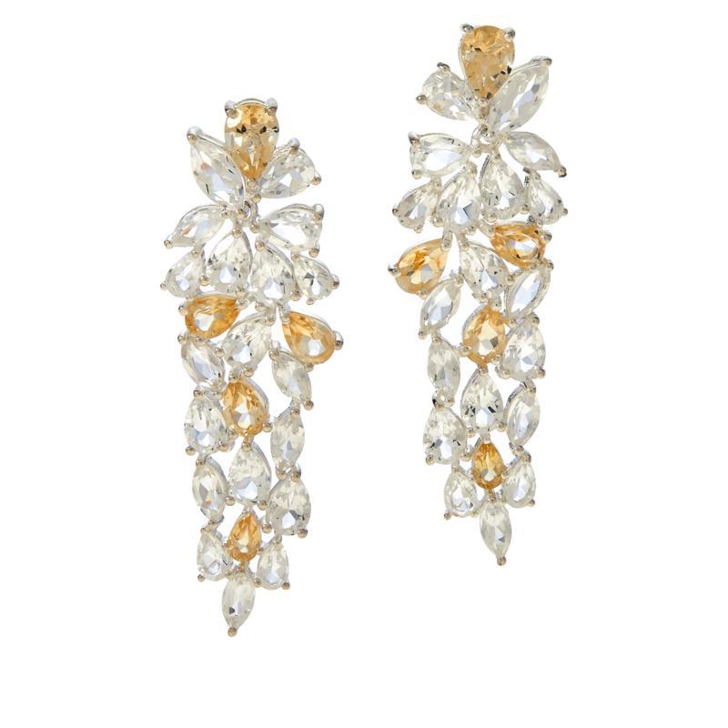 "Herkimer Mines ""Diamond"" Quartz Bi-Color Elegant Drop Earrings"