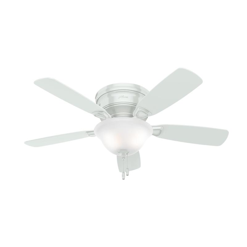 Hunter 48 Low Profile Ceiling Fan With Light And Pull Chain White 9593005 Hsn