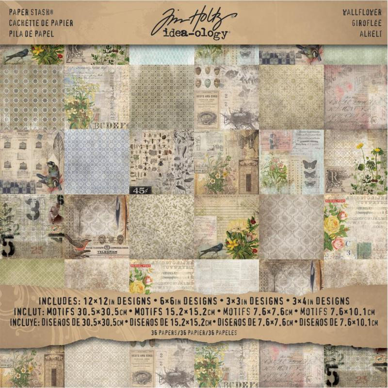 Idea-Ology Paper Stash Double-Sided Paper Pad - Wallflower