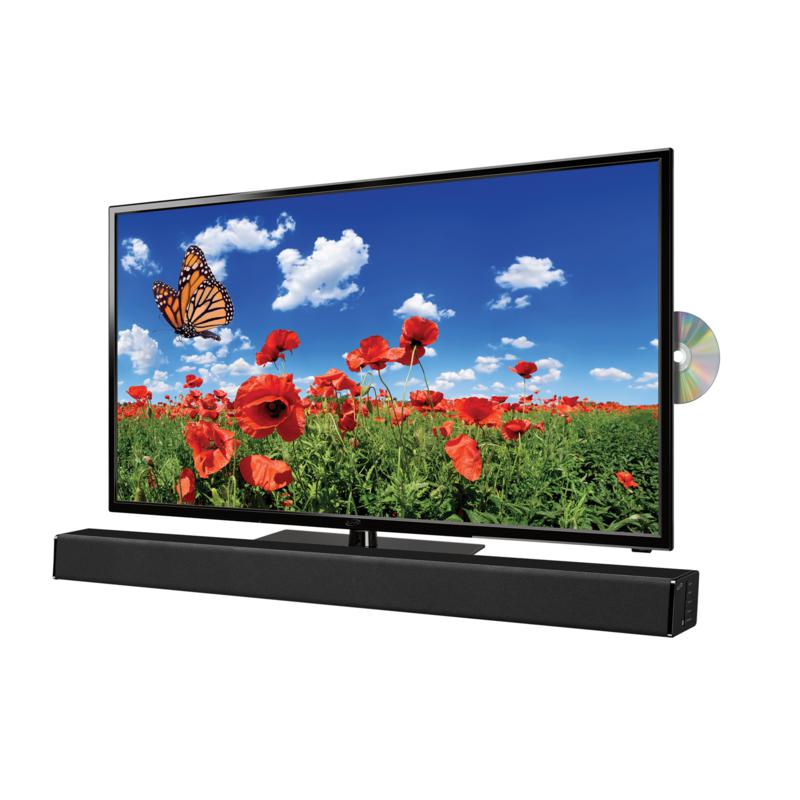 """iLive 32"""" Flat Screen LED TV with Built-in DVD 32"""" Sound Bar Bundle"""