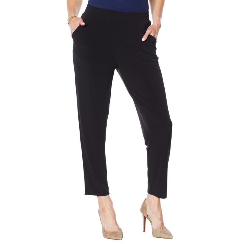 IMAN Global Chic Ankle Pant with Pockets