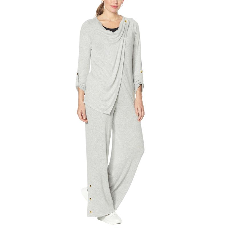 IMAN Global Chic Convertible Cardigan and Pant Set
