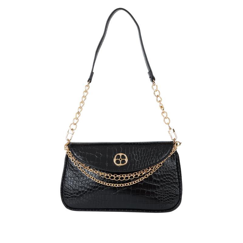 IMAN Global Chic Croco-Embossed Shoulder Bag