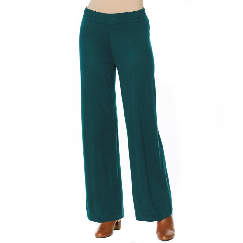 IMAN Global Chic Touch of Cashmere Pull-On Palazzo Pant