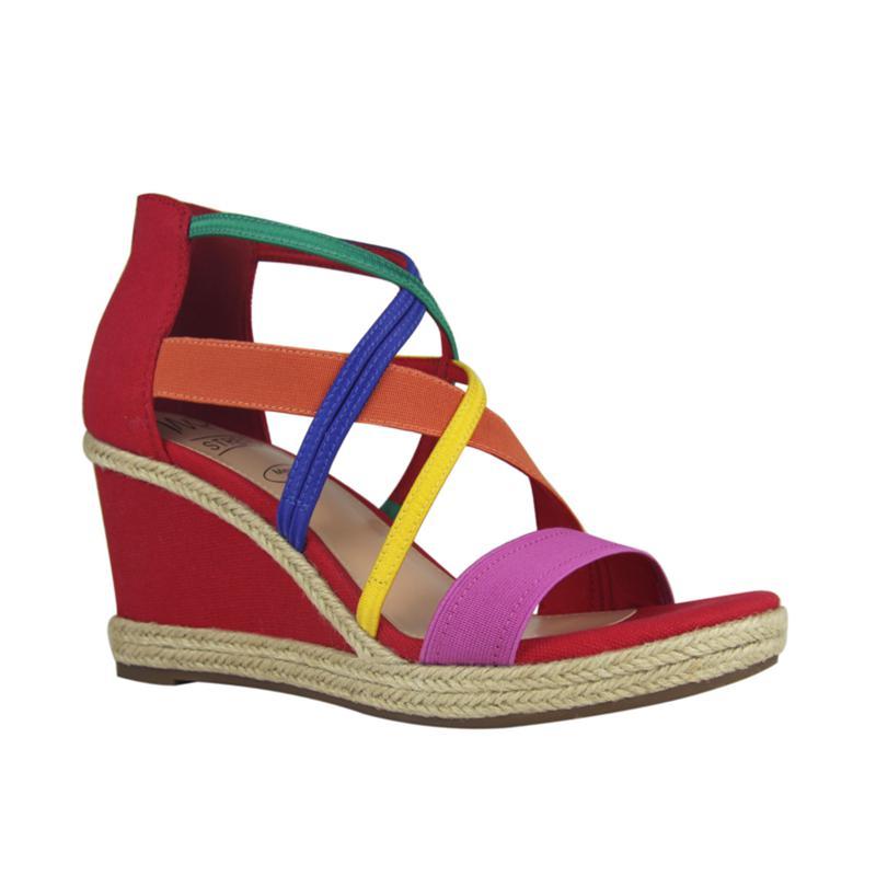 IMPO Tacara Stretch Platform Wedge Sandal with Memory Foam