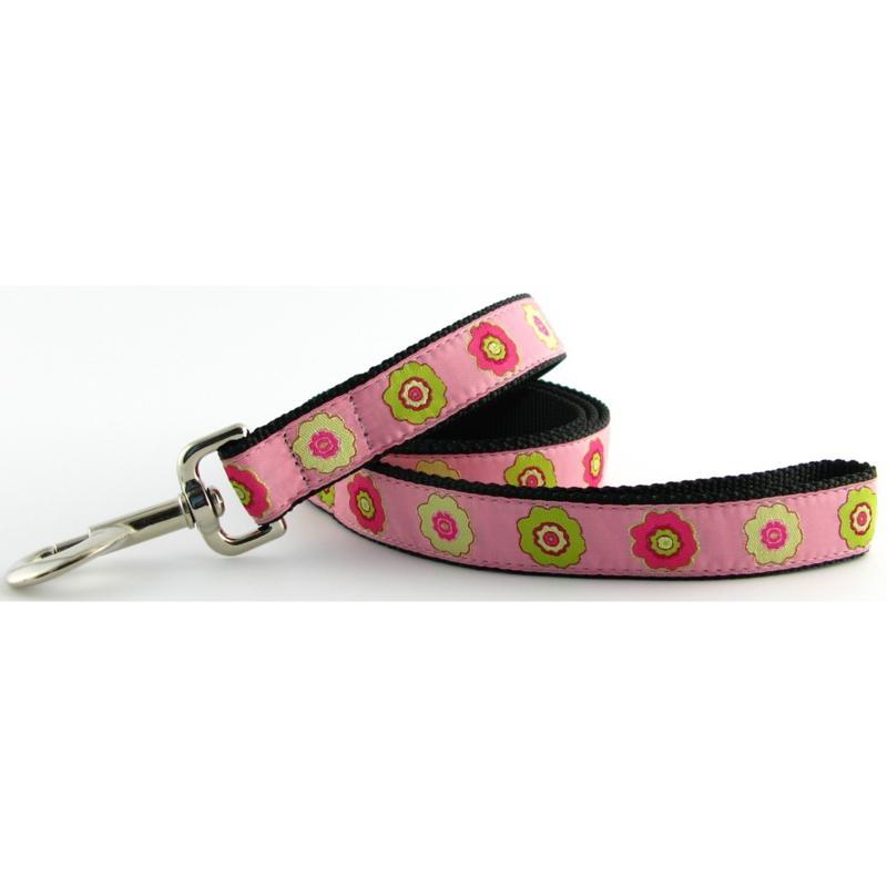 Isabella Cane Dog Leash - Primrose Pink 5ft N