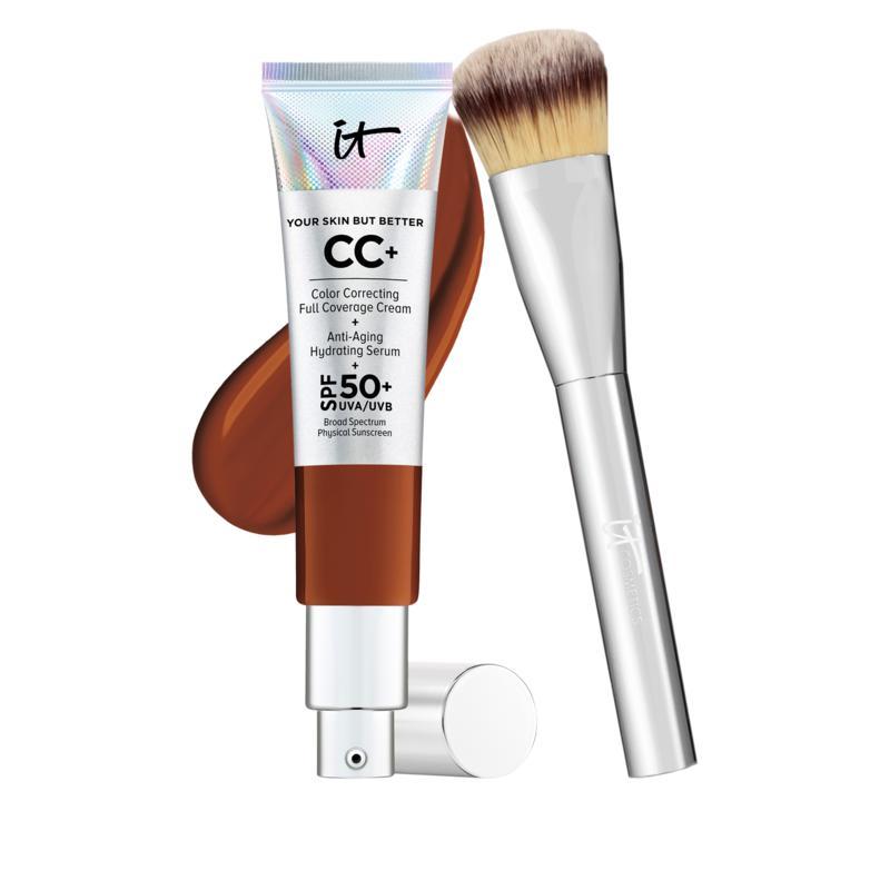 IT Cosmetics Deep Full Coverage SPF 50 CC Cream with Plush Brush