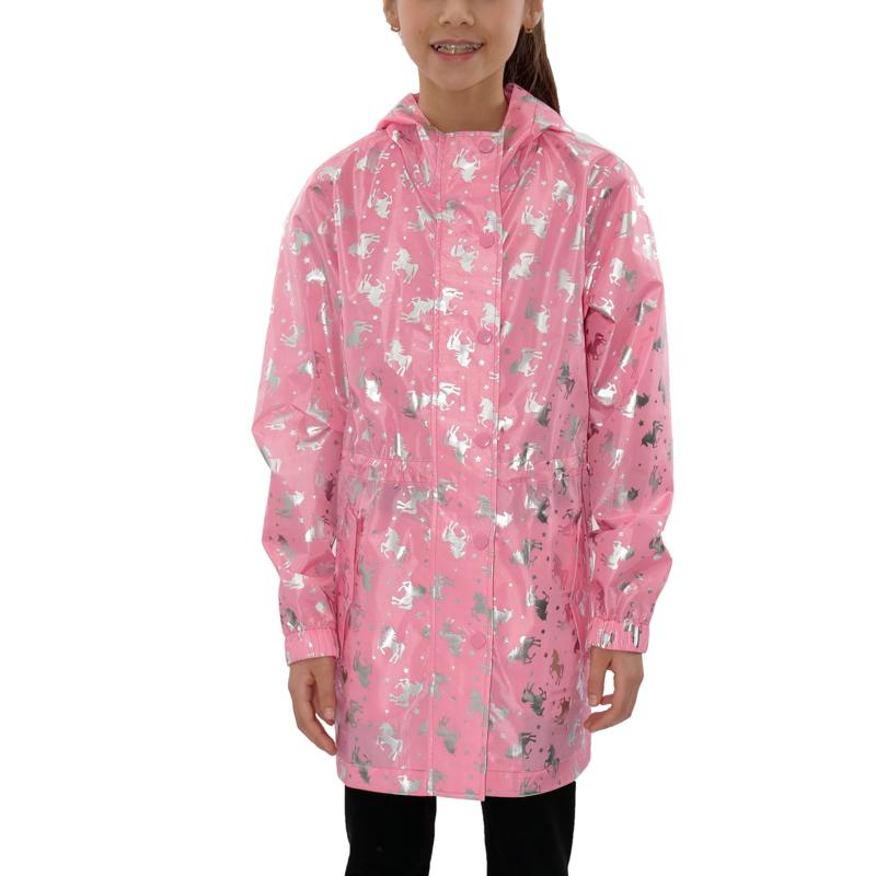 Jake and Anna Kids' Foil Print Unicorn Raincoat