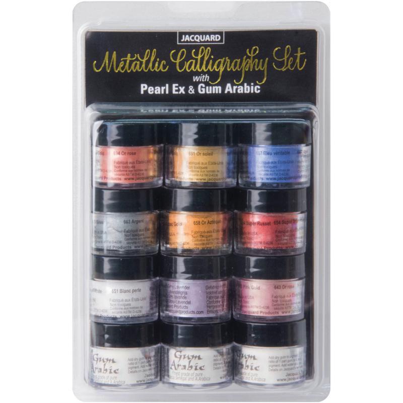 Jaquard Pearl Ex Metallic Calligraphy Set - Assorted Colors