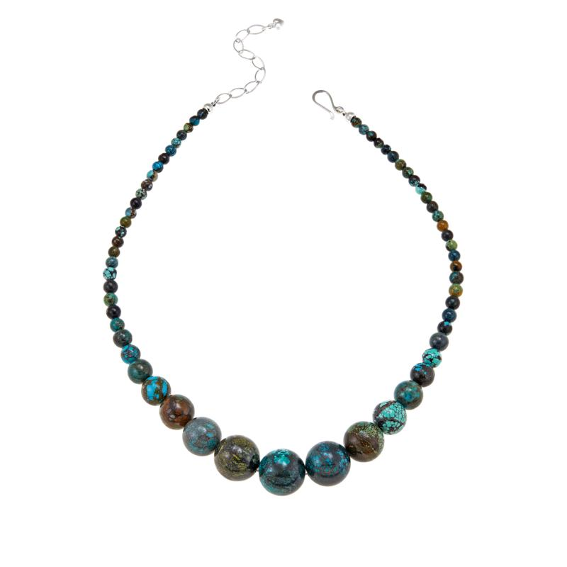 """Jay King 18"""" Multicolor Hubei Turquoise Graduated Bead Necklace"""