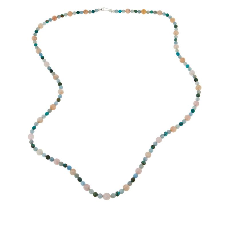 "Jay King 36"" Multi-Color Multi-Gemstone Bead Necklace"