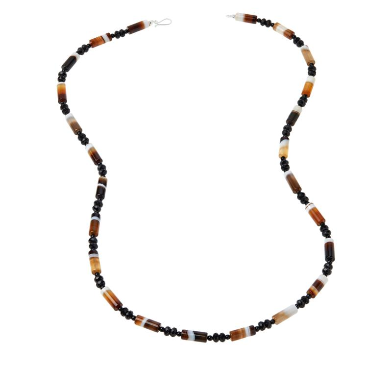 "Jay King 36"" Multi-Color Zebra Chalcedony Bead Necklace"