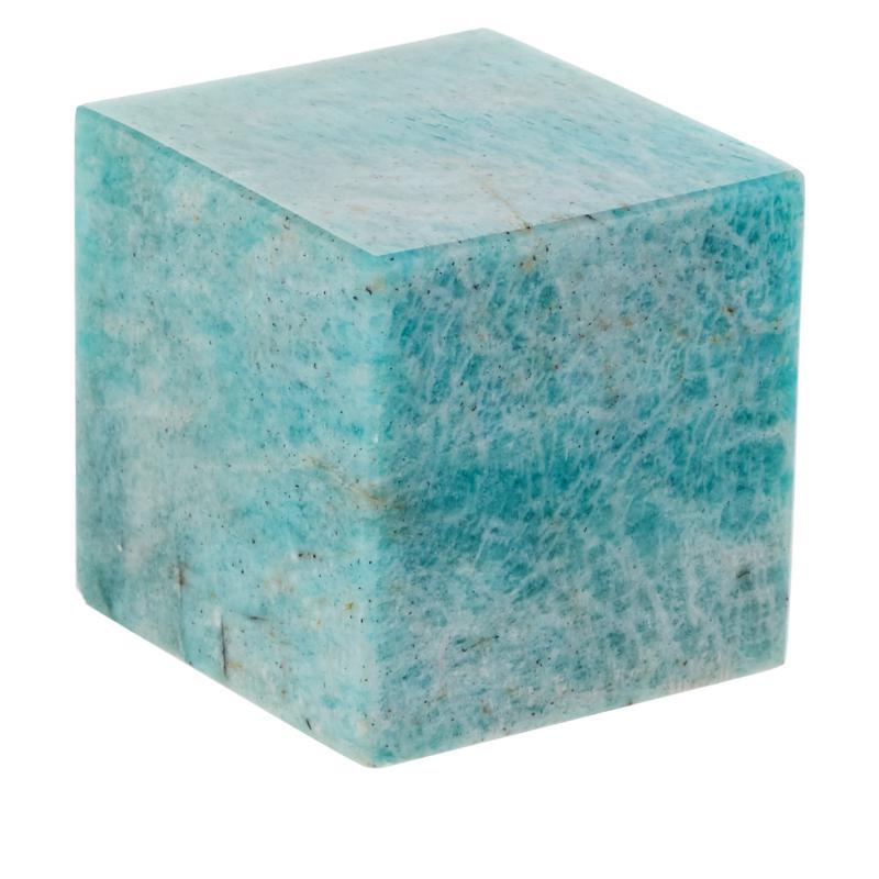Jay King Amazonite Stone Cube Specimen