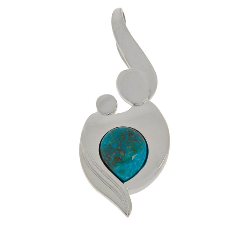 Jay King Gallery Collection Mother & Child Turquoise Pendant