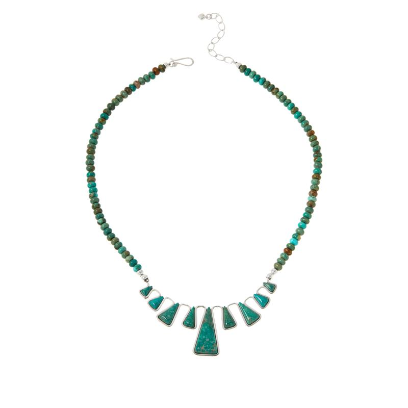 Jay King Gallery Collection Sterling Silver Alicia Turquoise Necklace