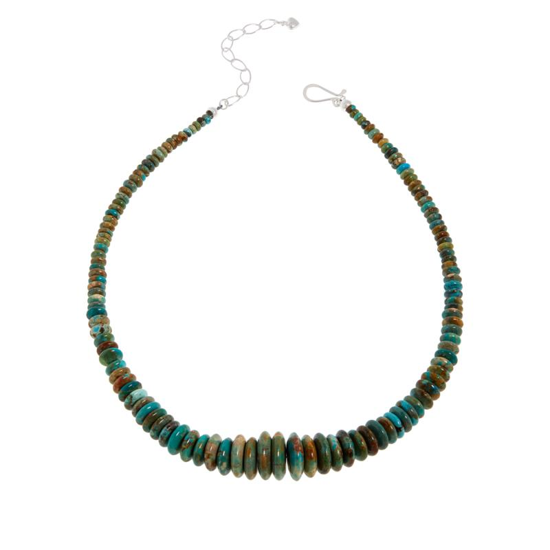 Jay King Golden Dragon Mountain Turquoise Disc Bead Necklace