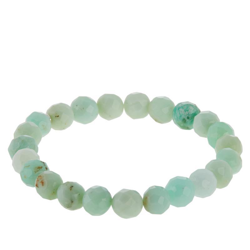 Jay King Green Opal Bead Stretch Bracelet