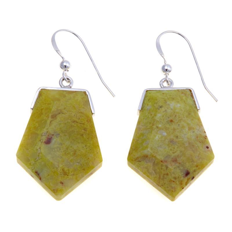 Jay King Madagascar Green Opal Drop Earrings