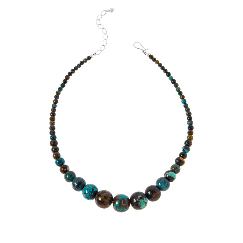 Jay King Multi-Color Hubei Turquoise Graduated Bead Necklace