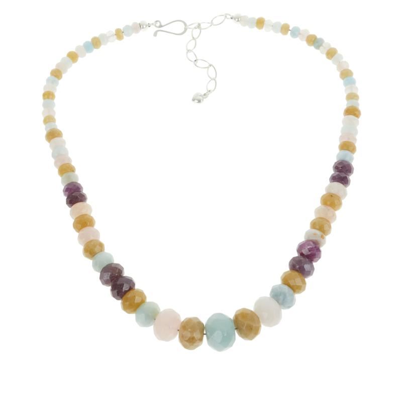 Jay King Multi-Color Multi-Gemstone Graduating Bead Necklace