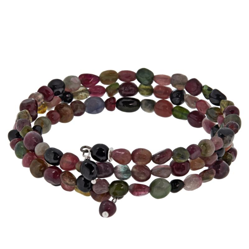 Jay King Multi-Colored Tourmaline Bead Coil Bracelet