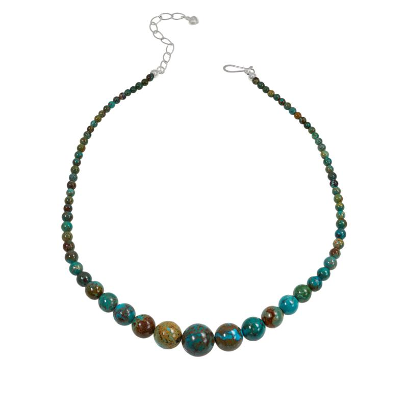 Jay King New Red Skin Turquoise Graduated Round Bead Necklace