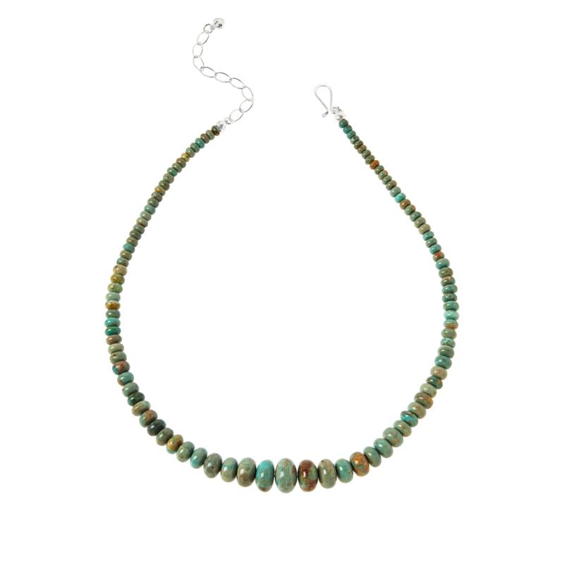 Jay King No. 7 Yellow Turquoise Graduated Bead Necklace