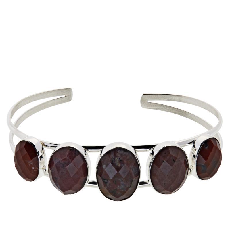 Jay King Orbicular Chalcedony Sterling Silver Cuff Bracelet