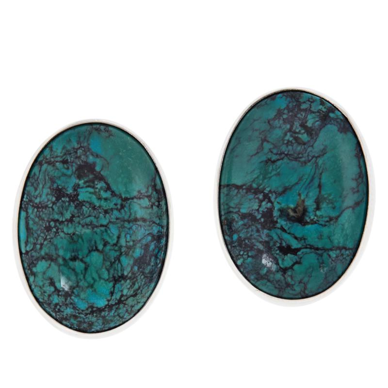 Jay King Oval Hubei Turquoise Sterling Silver Earrings