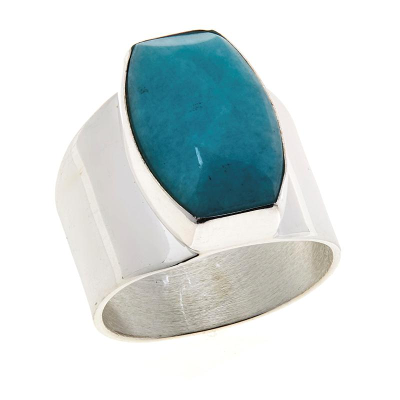 Jay King Sterling Silver Amazonite Ring