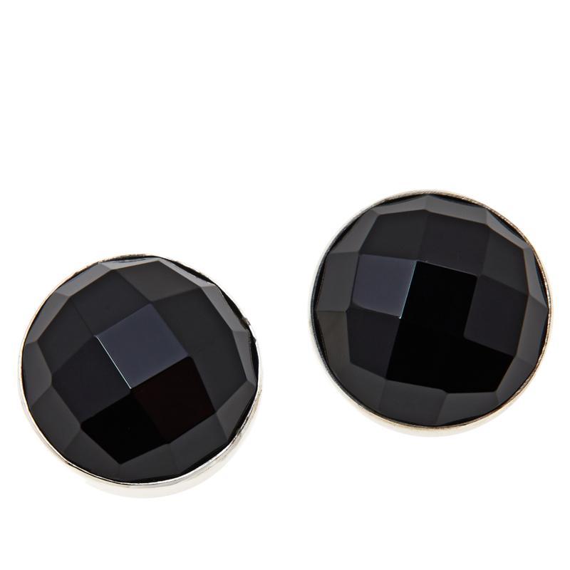 Jay King Sterling Silver Black Chalcedony Stud Earrings