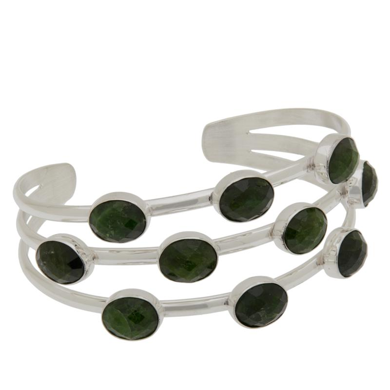 Jay King Sterling Silver Chrome Diopside Multi-Stone Cuff Bracelet