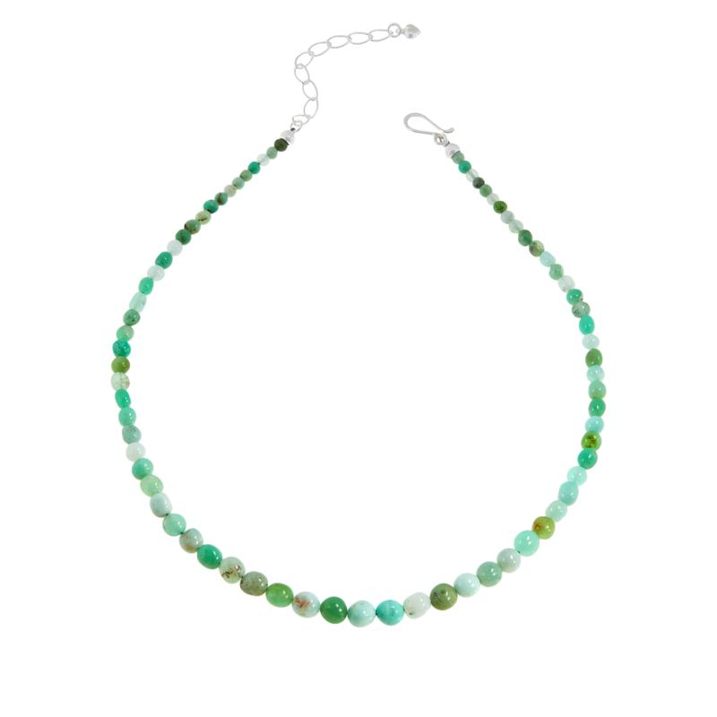 Jay King Sterling Silver Chrysoprase Bead Necklace