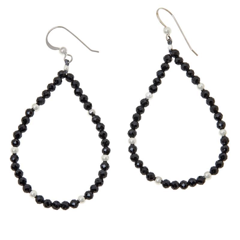 Jay King Sterling Silver Colored Gemstone Open Loop Drop Earrings