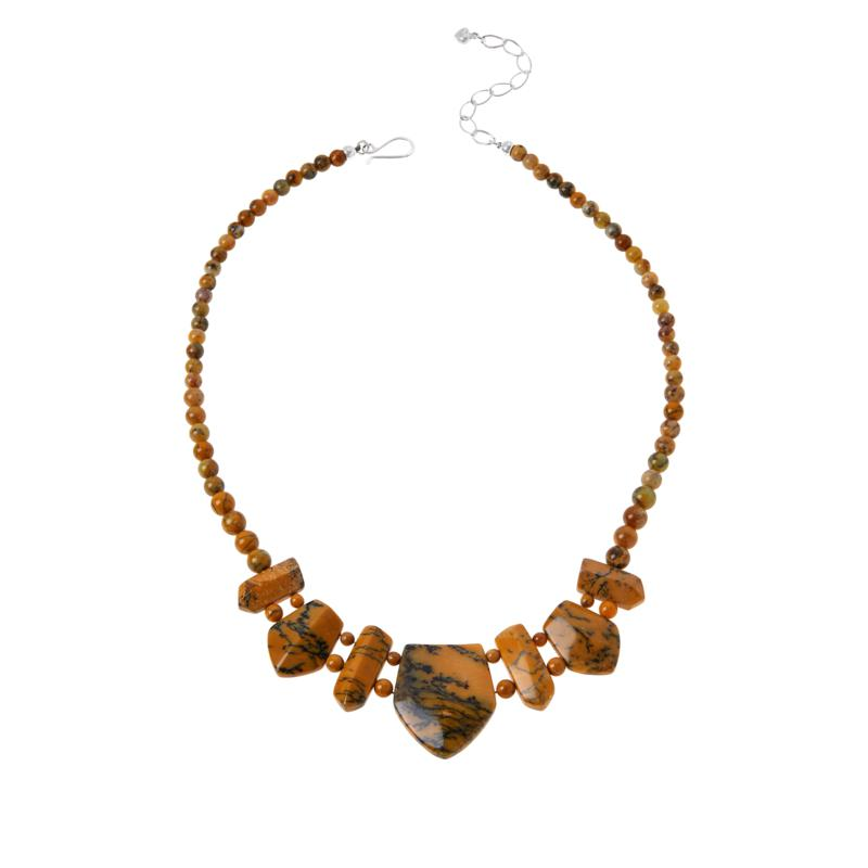 Jay King Sterling Silver Dendritic Opal Necklace
