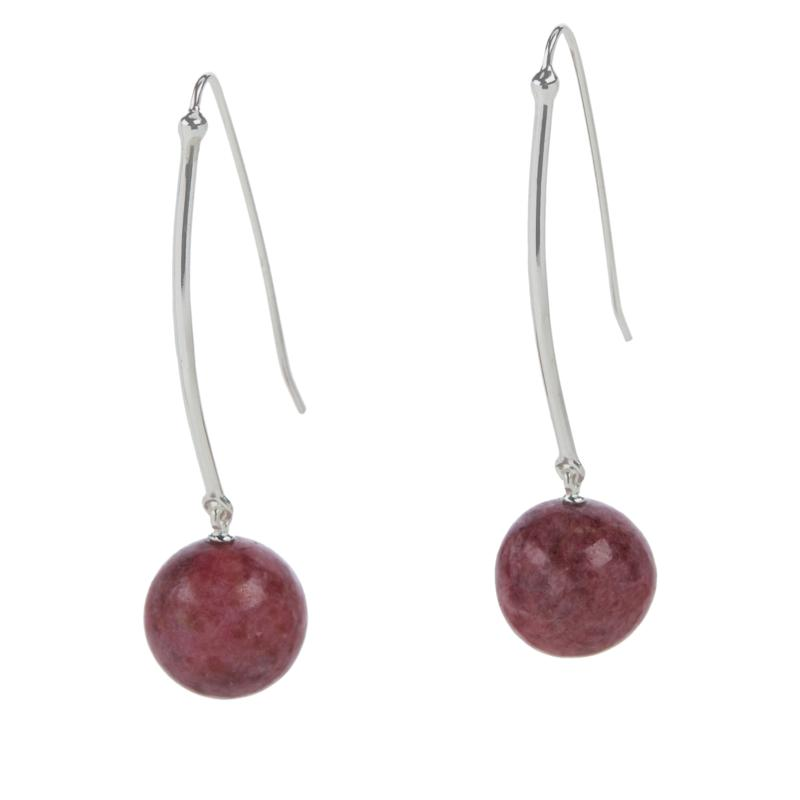 Jay King Sterling Silver Gemstone Bead Drop Earrings