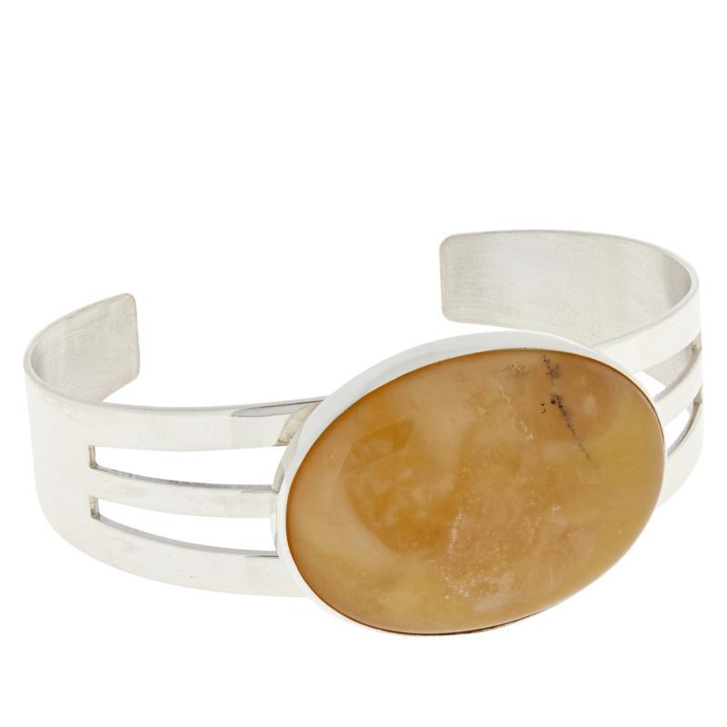 Jay King Sterling Silver Gemstone Oval Cuff Bracelet