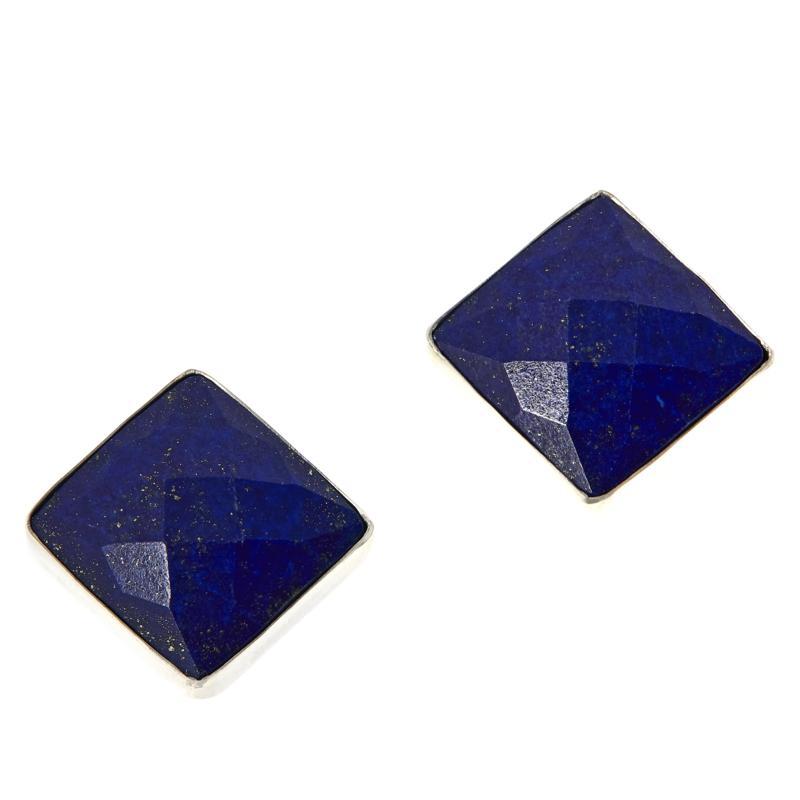 Jay King Sterling Silver Gemstone Square Stud Earrings