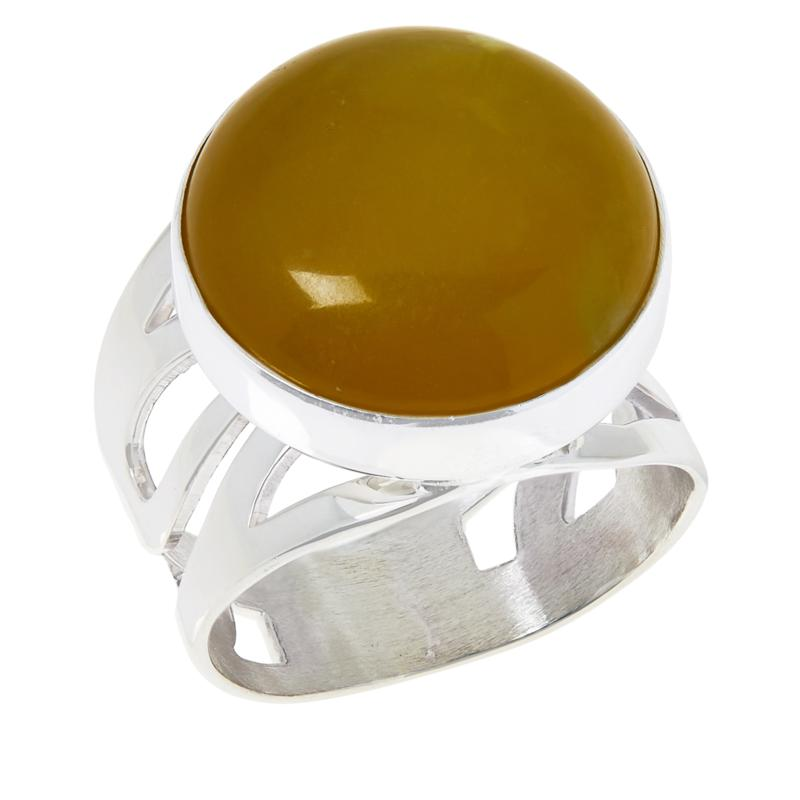 Jay King Sterling Silver Green Serpentine Ring